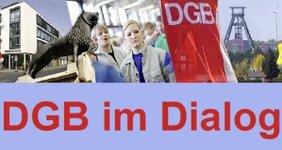 Bildleiste und Text DGB im Dialog